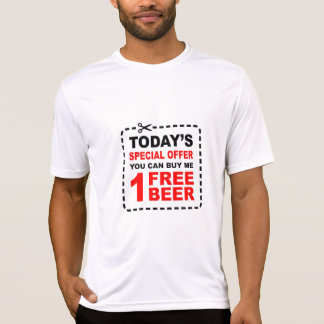 Free Beer Special Offer Coupon T Shirt