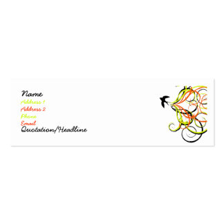 free bird mini business card