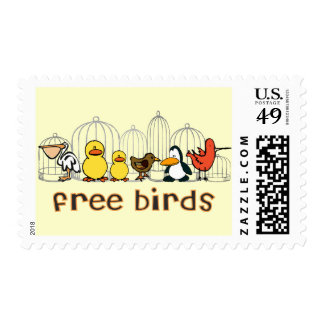 Free Birds Postage Stamps