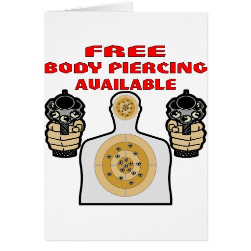 Free Body Piercing Available w/ Guns Card