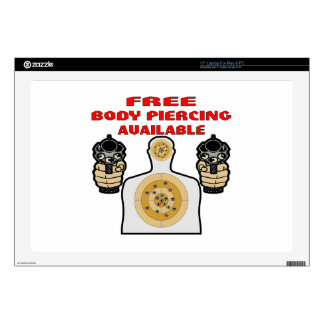 Free Body Piercing Available w/ Guns Decal For Laptop