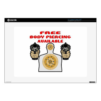"Free Body Piercing Available w/ Guns Skin For 15"" Laptop"