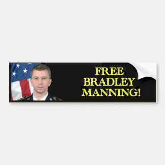 Free Bradley Manning! Bumper Sticker