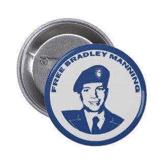 FREE Bradley Manning Pinback Button