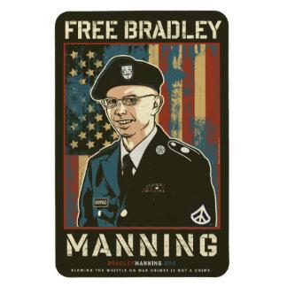 Free Bradley Manning Rectangular Photo Magnet