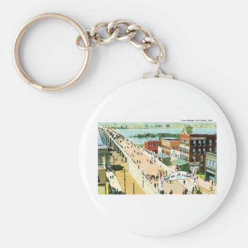 Free Bridge, Fort Smith Arkansas Basic Round Button Keychain
