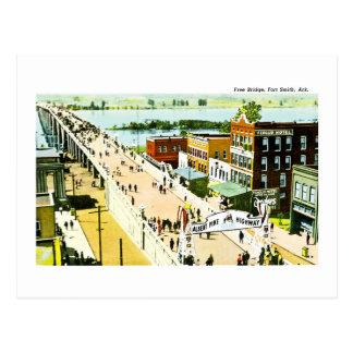 Free Bridge, Fort Smith, Arkansas. Postcard