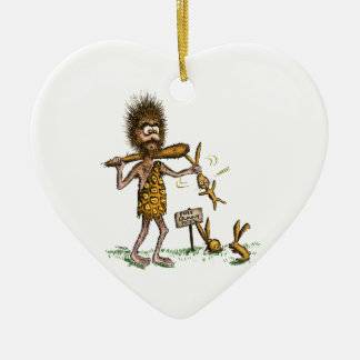 Free Bunny Rides - Caveman Christmas Tree Ornaments