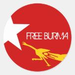 FREE BURMA CLASSIC ROUND STICKER