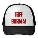 FREE BURMA! HATS