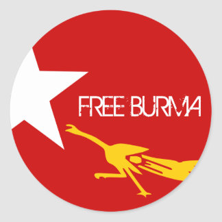 FREE BURMA STICKER