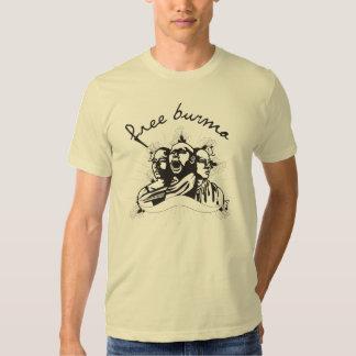 free burma three monks (light color, unisex) t shirt