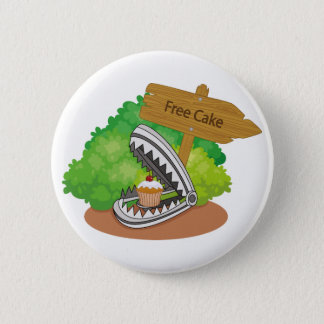 Free Cake Pinback Button