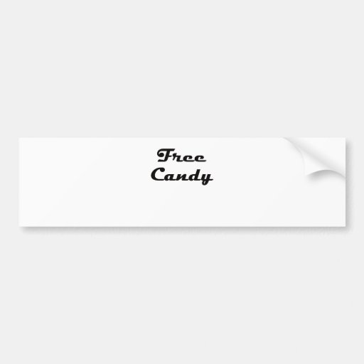 Free Candy Bumper Stickers