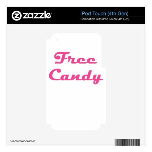 Free Candy Decals For iPod Touch 4G