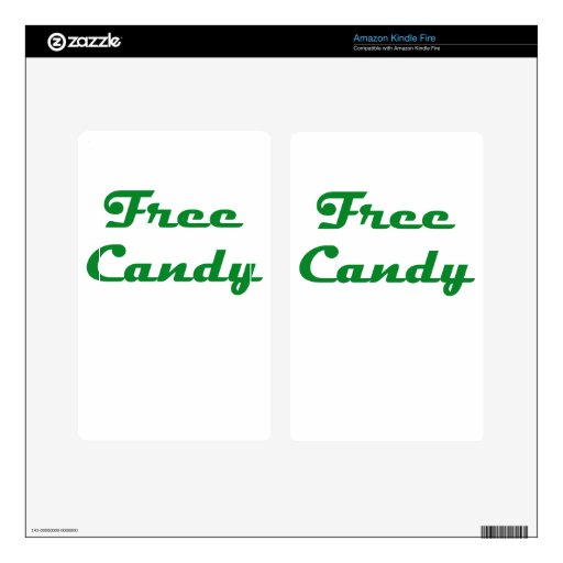 Free Candy Kindle Fire Decal
