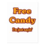 Free Candy Postcard