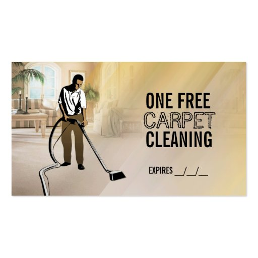 free carpet cleaning business cards zazzle