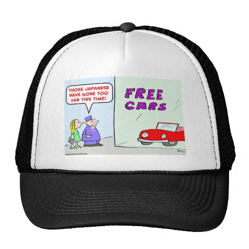 free cars japanese mesh hats