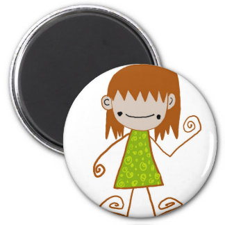 Free Characters by Jaidee Family 2 Inch Round Magnet