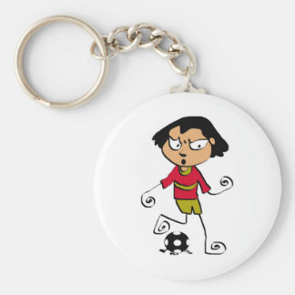 Free Characters by Jaidee Family Basic Round Button Keychain