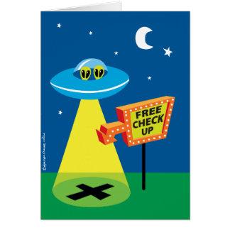 Free checkup alien abduction birthday card
