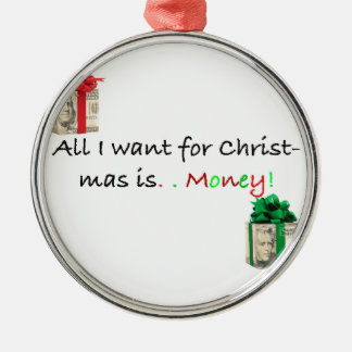 free! Christmas money Christmas Tree Ornament