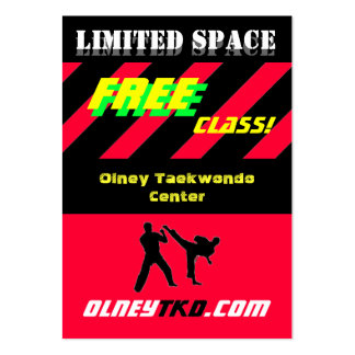 Free Class Large Business Cards (Pack Of 100)