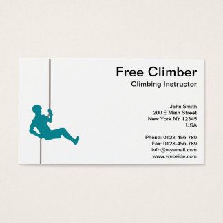 Free Climbing Instructor on Robe Business Card