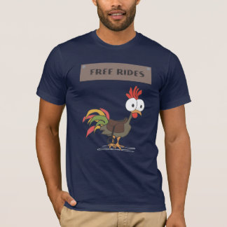 FREE COCK RIDES Funny Innuendo Humor T-Shirt