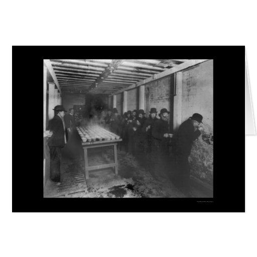Free Coffee at a  Bowery Mission, NY 1908 Cards