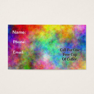 """Free Coffee"" Business Card"