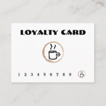 Free Coffee Coffee Shop Loyalty Card