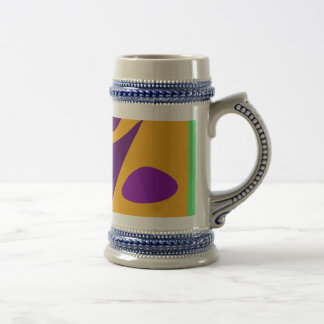 Free Colorful Digital Abstract Painting Beer Stein