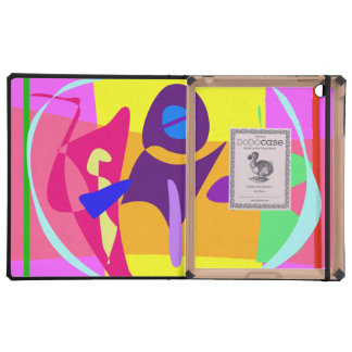 Free Colorful Digital Abstract Painting iPad Folio Case