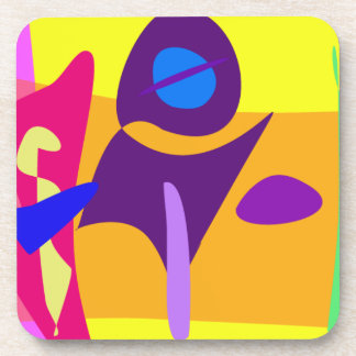 Free Colorful Digital Abstract Painting Drink Coasters