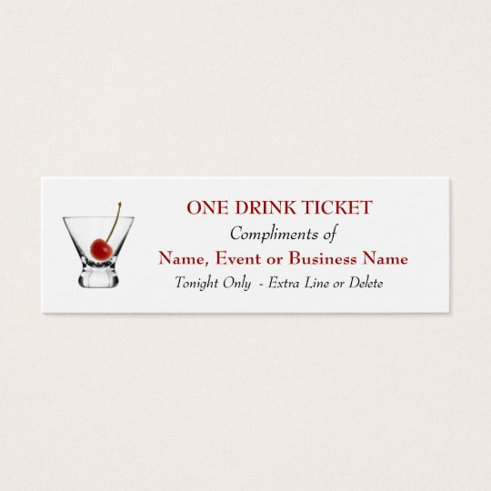 Free complimentary drink ticket bar special events for Complimentary drink ticket template