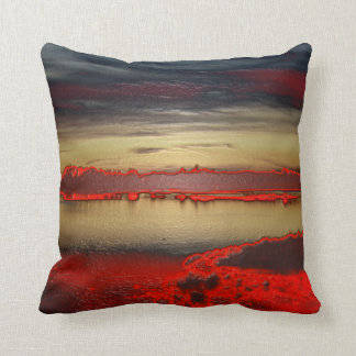 Free creation of colors grows dark in the lagoon throw pillow