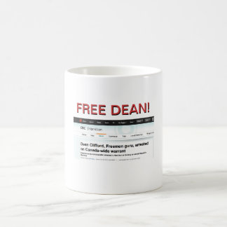 FREE DEAN! CLASSIC WHITE COFFEE MUG