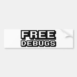 FREE DEBUGS BUMPER STICKER