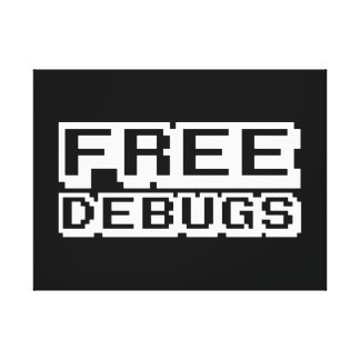 FREE DEBUGS CANVAS PRINT