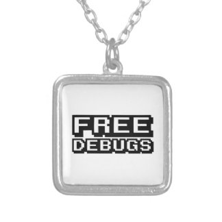 FREE DEBUGS SILVER PLATED NECKLACE