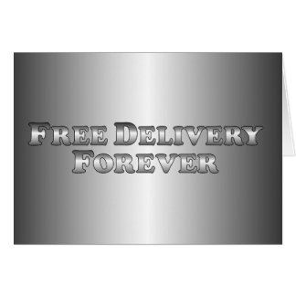 Free Delivery Forever - Basic Card