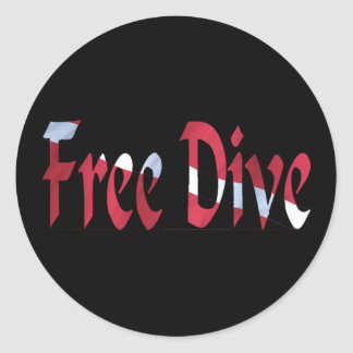 FREE DIVE-Dive for Divers Diving Classic Round Sticker