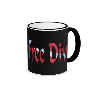 FREE DIVE-Dive for Divers Diving Ringer Mug