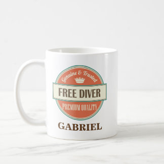 Free Diver Personalized Office Mug Gift