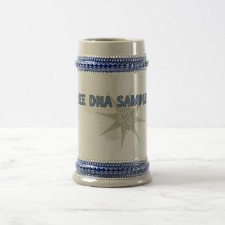 Free DNA Samples Beer Stein