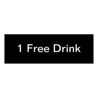 Free Drink Business Card