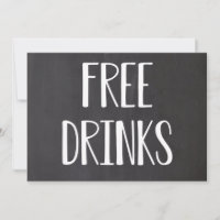 Free Drinks Funny Save the Dates Save The Date