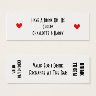 Free Drinks Token Personalized